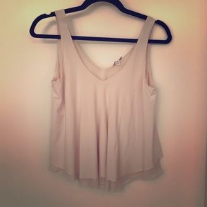 Crop swing tank blush